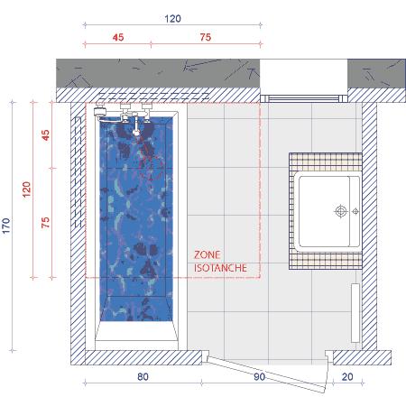 installation sous la baignoire d un siphon de sol haut. Black Bedroom Furniture Sets. Home Design Ideas